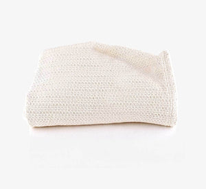 Organic Waffle Natural Blanket Throw