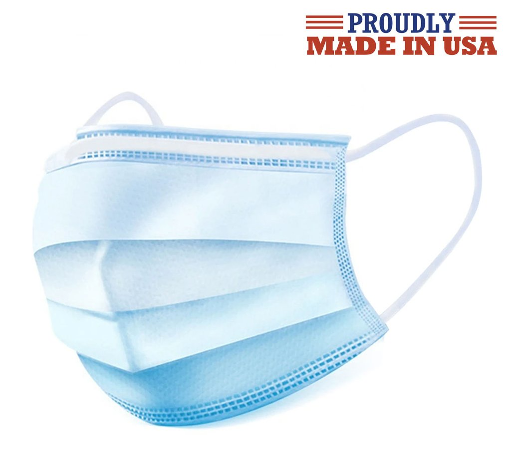 Wholesale USA Made 50 Pcs Disposable 3 Ply Filter Mask Earloop Face Masks
