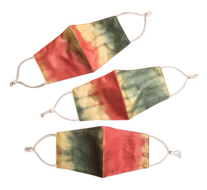Silk Tie Dye Mask With Filter