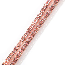 Load image into Gallery viewer, Rosegold Glittery Pink Tennis Chain