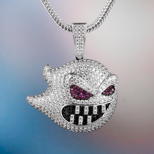 Iced Out Grimace Pendant