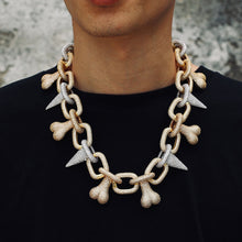 Load image into Gallery viewer, Iced Out Punk Rivet Bone Choker