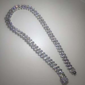 Iced Out Miami Curb Square Cuban Link Chain Bracelet