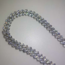 Load image into Gallery viewer, Iced Out Miami Curb Square Cuban Link Chain Bracelet