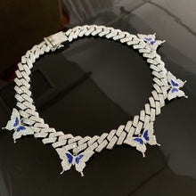 Load image into Gallery viewer, Iced Out Miami Cuban Link Butterfly Choker