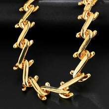 Load image into Gallery viewer, 2.2CM Heavy Thorns Cuban Link Chain Necklace in 18inch