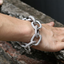 Load image into Gallery viewer, Exaggerated 22mm Thick Iced Out European Chain Bracelet