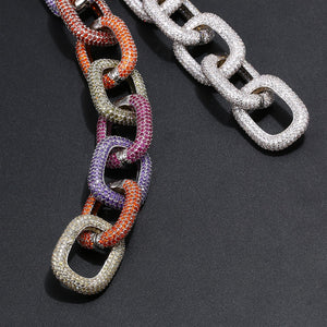 Exaggerated 22mm Thick Iced Out European Chain Bracelet
