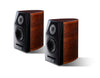 Usher Dancer Mini-X diamond Bookshelf Speakers (Walnut - Black) - Pair