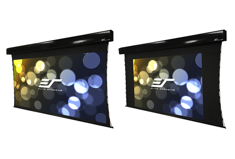 Elite PMT100 inch motorized screen with tab tensioning