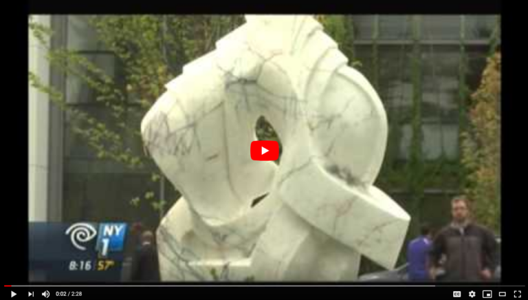 ROBIN ANTAR ON NY1 SCULPTURE DONATED TO THE ZUCKER HILLSIDE HOSPITAL