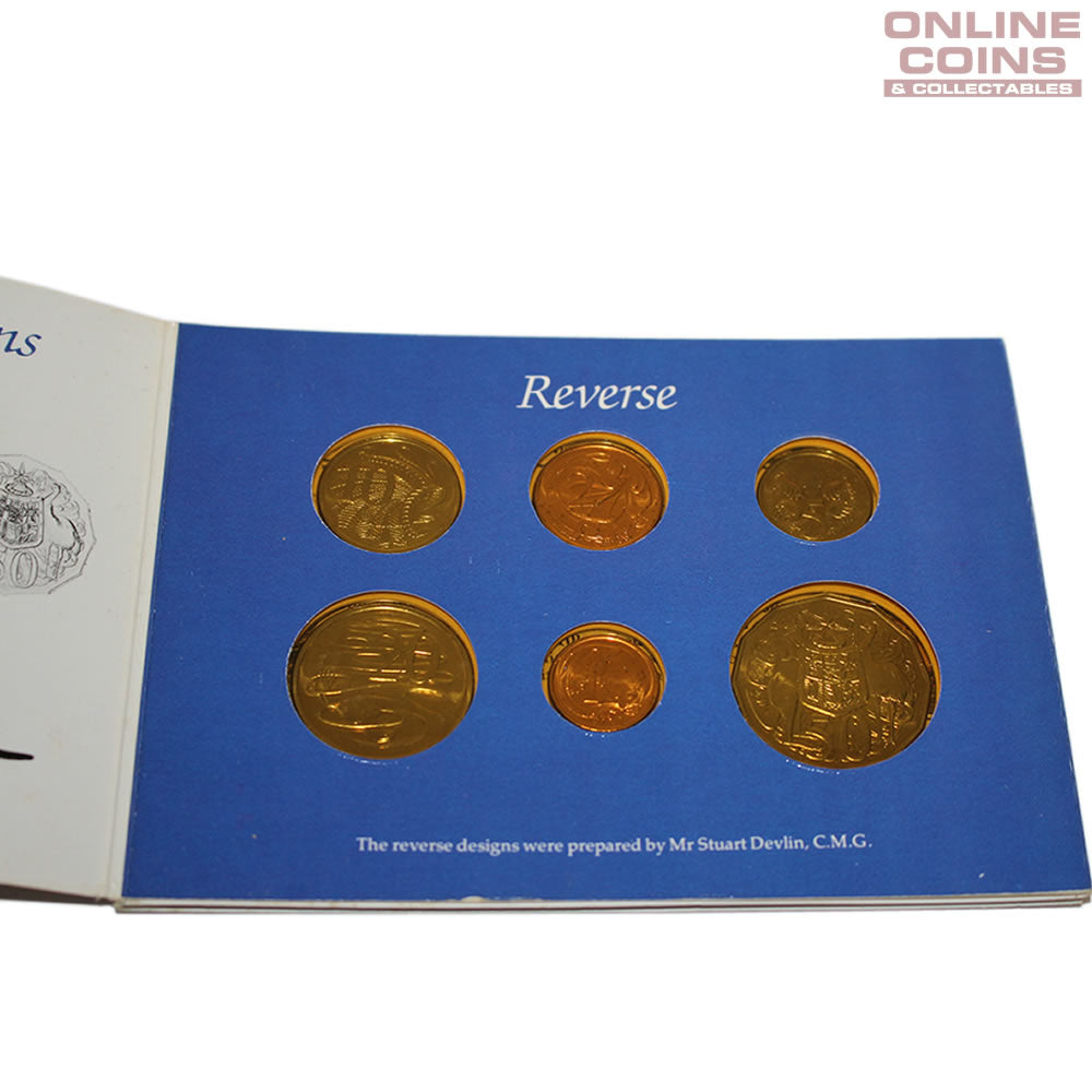 1984 Royal Australian Mint Uncirculated Six Coin Year Set - YELLOW INSERT