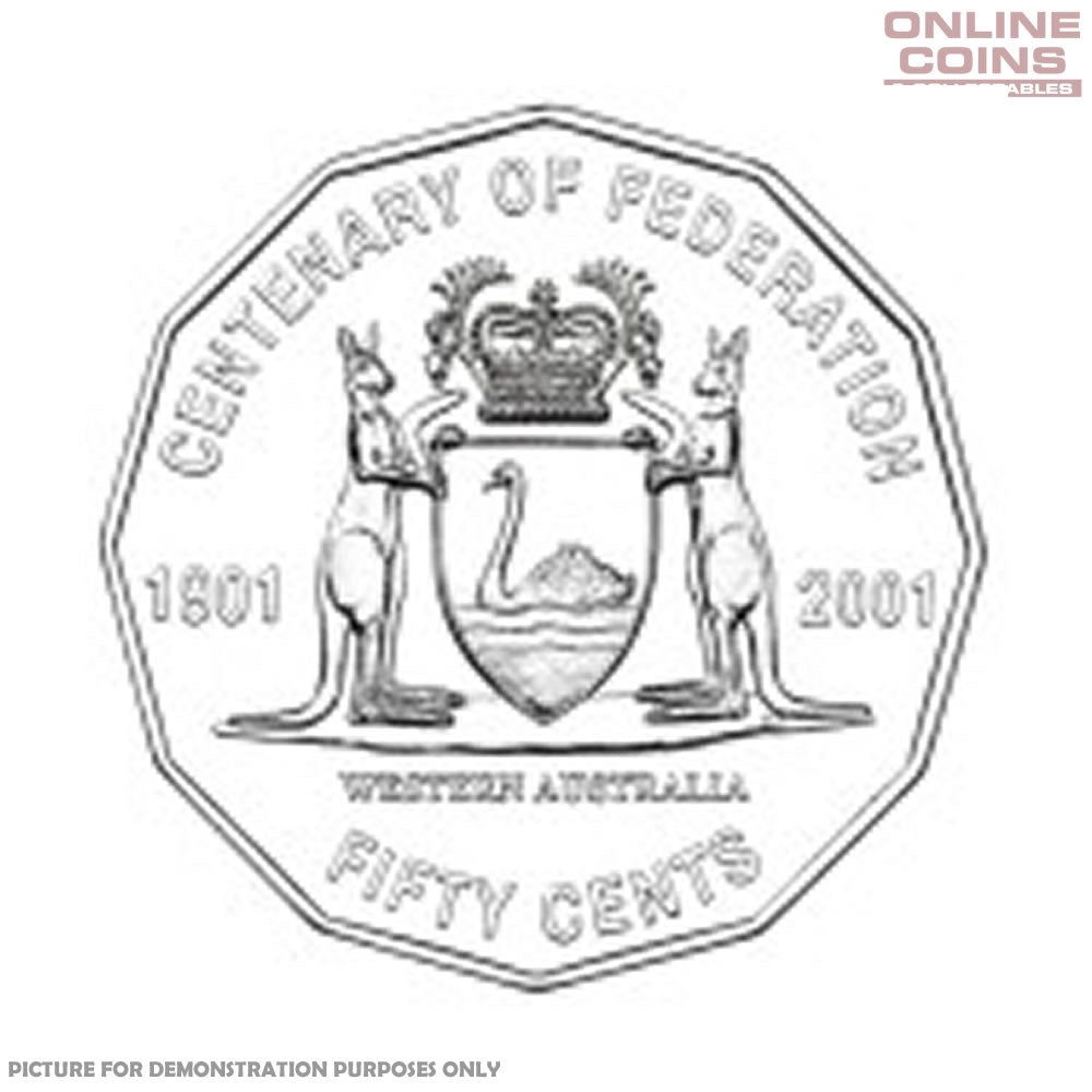 2001 RAM Centenary of Federation 50c Circulating Coin - WESTERN AUSTRALIA