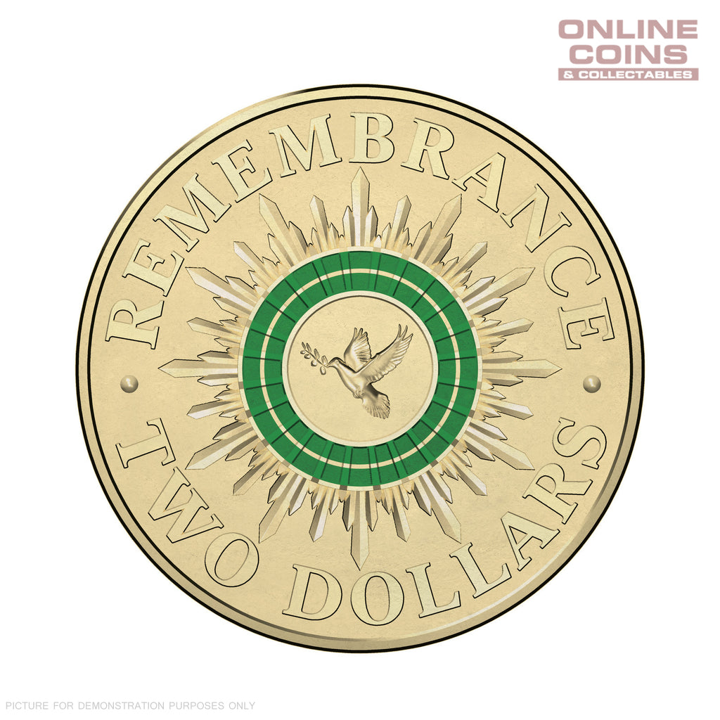 2014 Remembrance Day $2.00 Coloured Circulating Coin