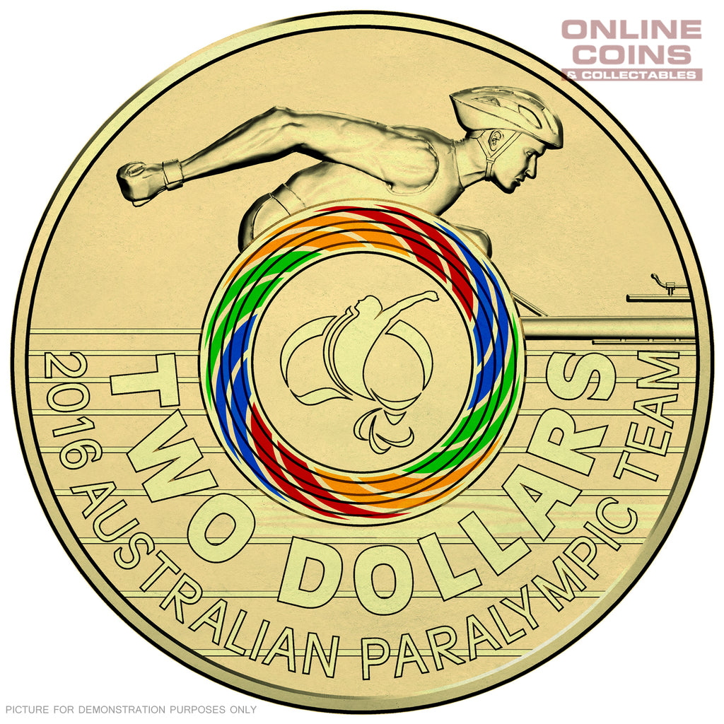 2016 RAM Olympic Ring Coloured Circulating Coin - Paralympics