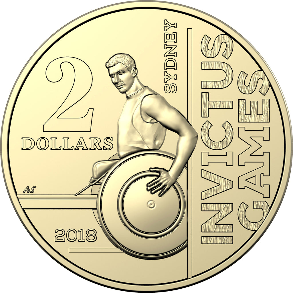 ROYAL AUSTRALIAN MINT - INVICTUS GAMES – 2018 $2 CIRCULATING SINGLE COIN