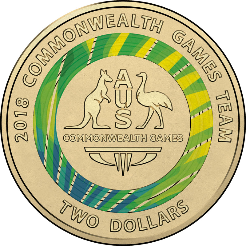 2018 RAM Commonwealth Games Coat of Arms Coloured Circulating Coin - GREEN