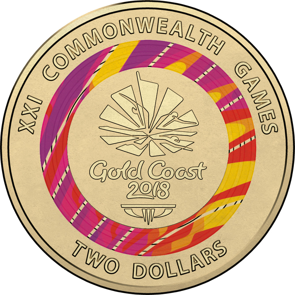 2018 RAM Commonwealth Games Logo Coloured Circulating Coin - RED