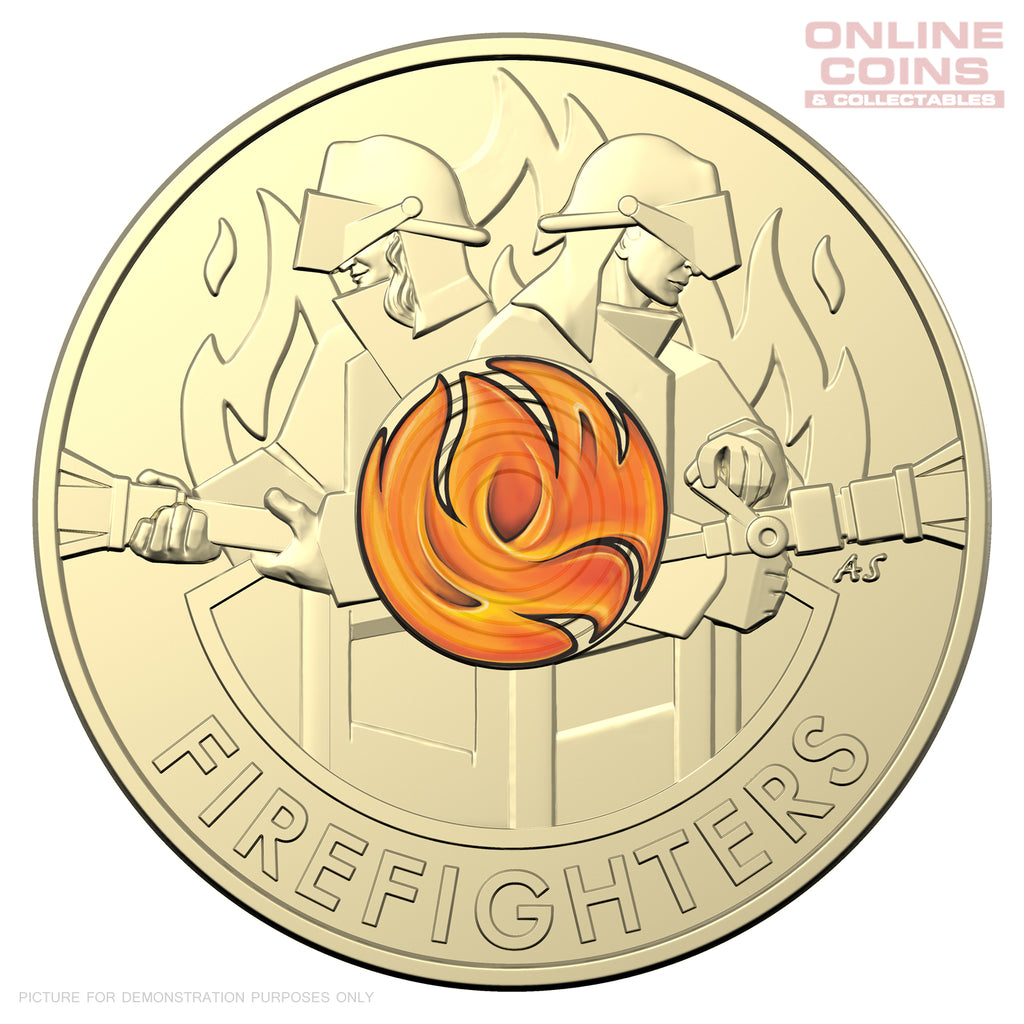 RAM Australia's Firefighters 2020 $2 Al/Br Coloured Circulating Coin in Uncirculated Condition