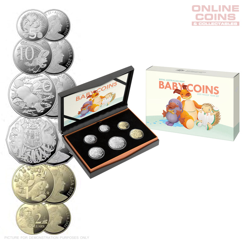 2021 Royal Australian Mint -  Six Coin Proof Baby Year Set