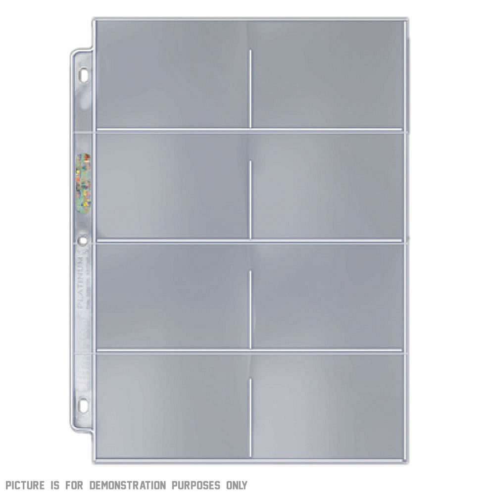 Ultra-Pro Platinum 3-hole 8-Pocket Pages x 10 for Telephone Cards, Carded Coins