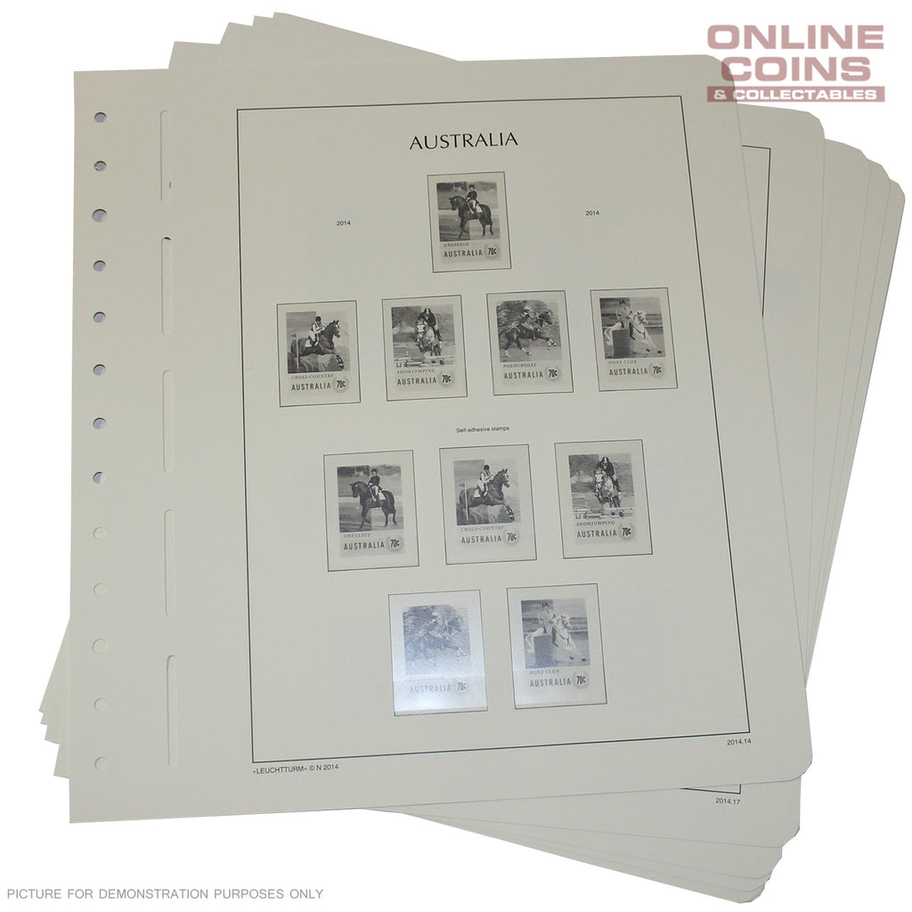 Lighthouse 13 Hole Stamp Stock Sheets 2014 Australian Supplement - 23 Pages