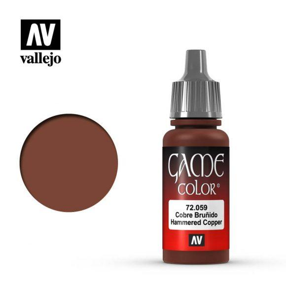 Vallejo 72.059 Game Colour - Hammered Copper 17ml Bottle