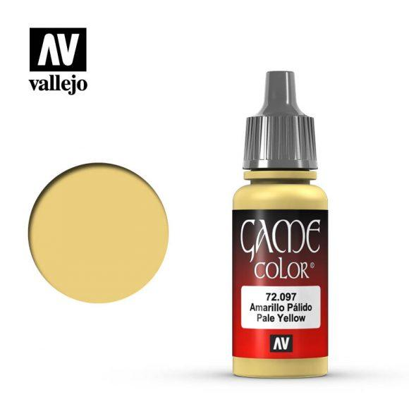 Vallejo 72.097 Game Colour - Pale Yellow 17ml Bottle