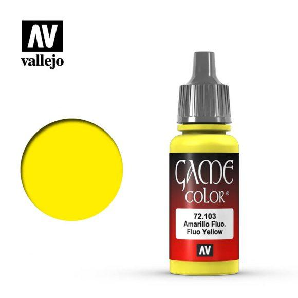Vallejo 72.103 Game Colour - Fluorescent Yellow 17ml Bottle