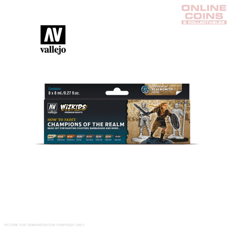 Vallejo Wizkids Premium Paint Set: Champions of the Realm
