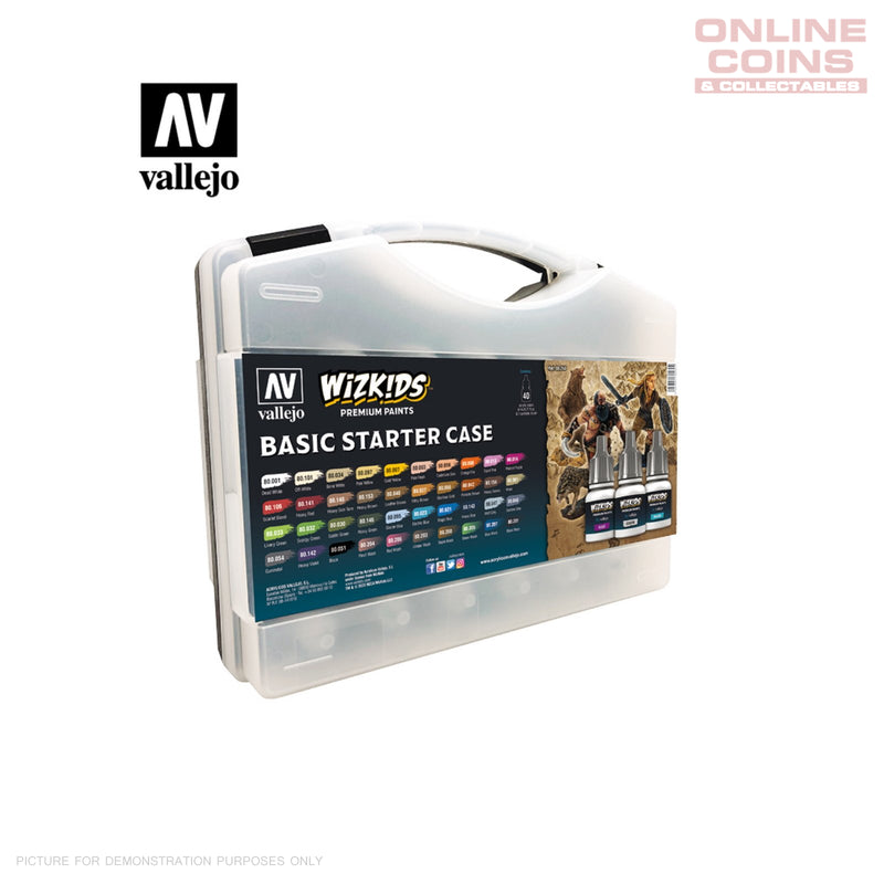 Vallejo Wizkids Premium Paint Set: Basic Starter Case