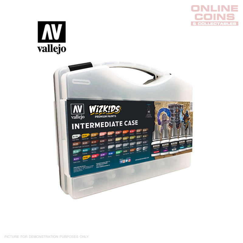 Vallejo Wizkids Premium Paint Set: Intermediate Case