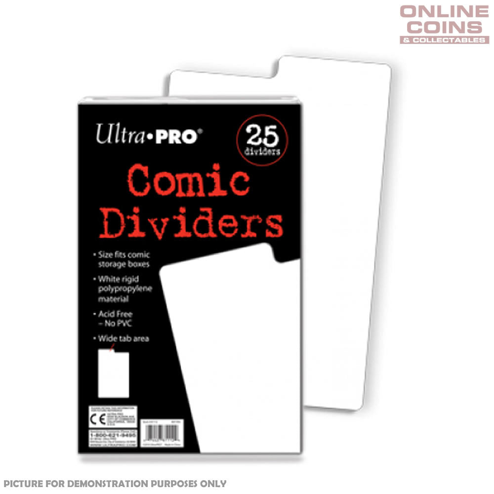 Ultra Pro Comic Series Comic Storage Dividers x Packet of 25 - Great for Comic Boxes
