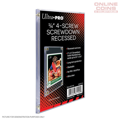 "Ultra-Pro 3"" x 5"" 4 Screw Screwdown Frame for Standard Trading Card -10 Pack"