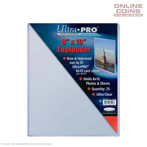 "Ultra-Pro Specialty Series Toploader - Top Loader 8"" x 10"" 25 PACK"
