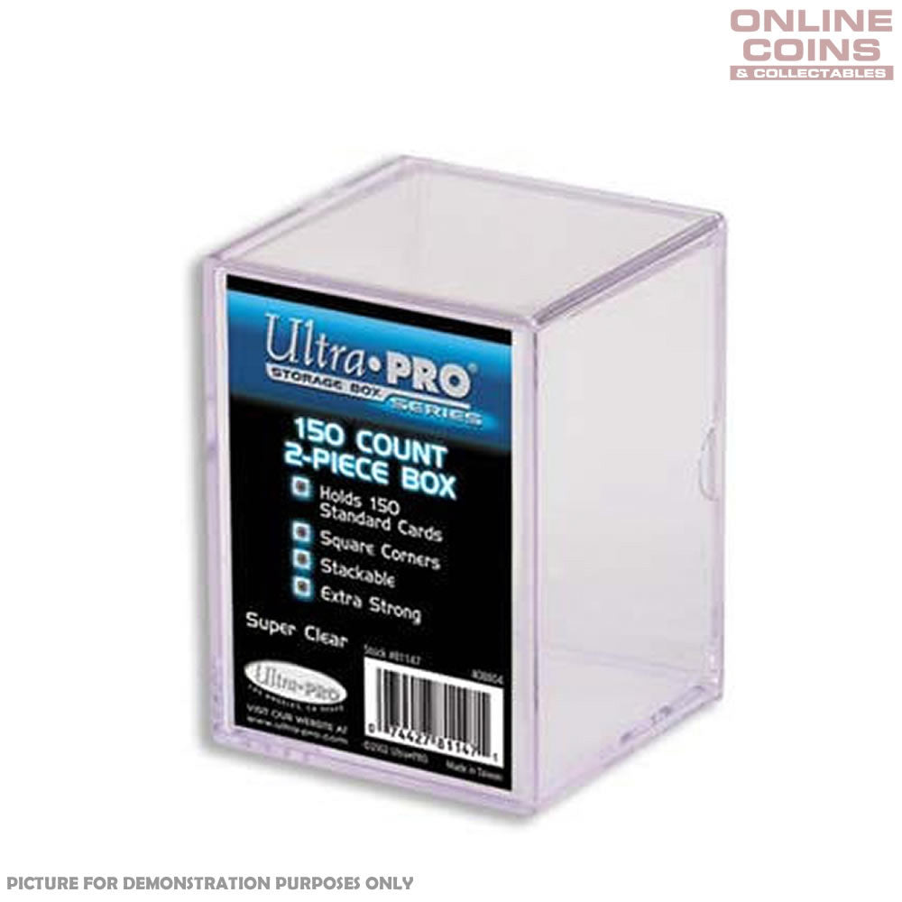 Ultra Pro 150 Standard Trading Card Plastic Storage Box - Heavy Duty Card Storage