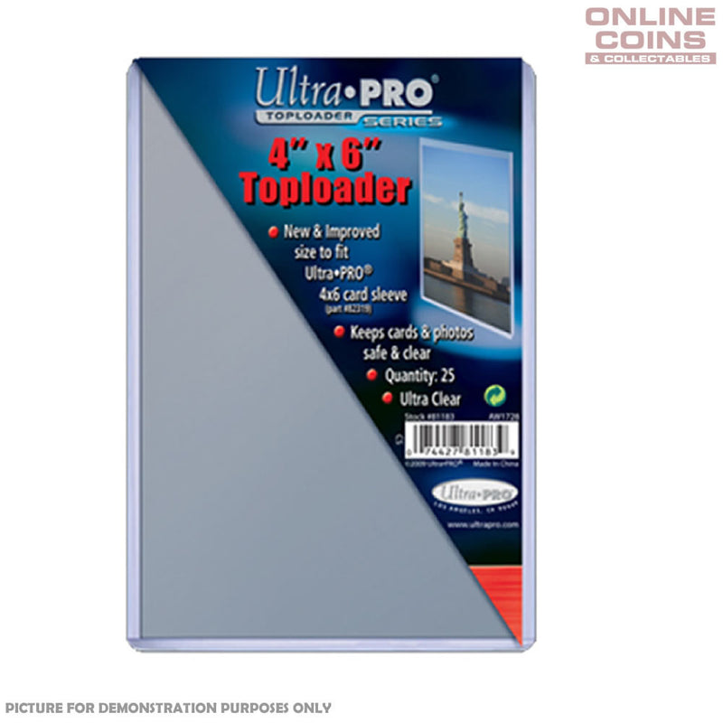 "Ultra-Pro Specialty Series Photo / Postcard Toploader - 4"" x 6"" - 25 PACK"