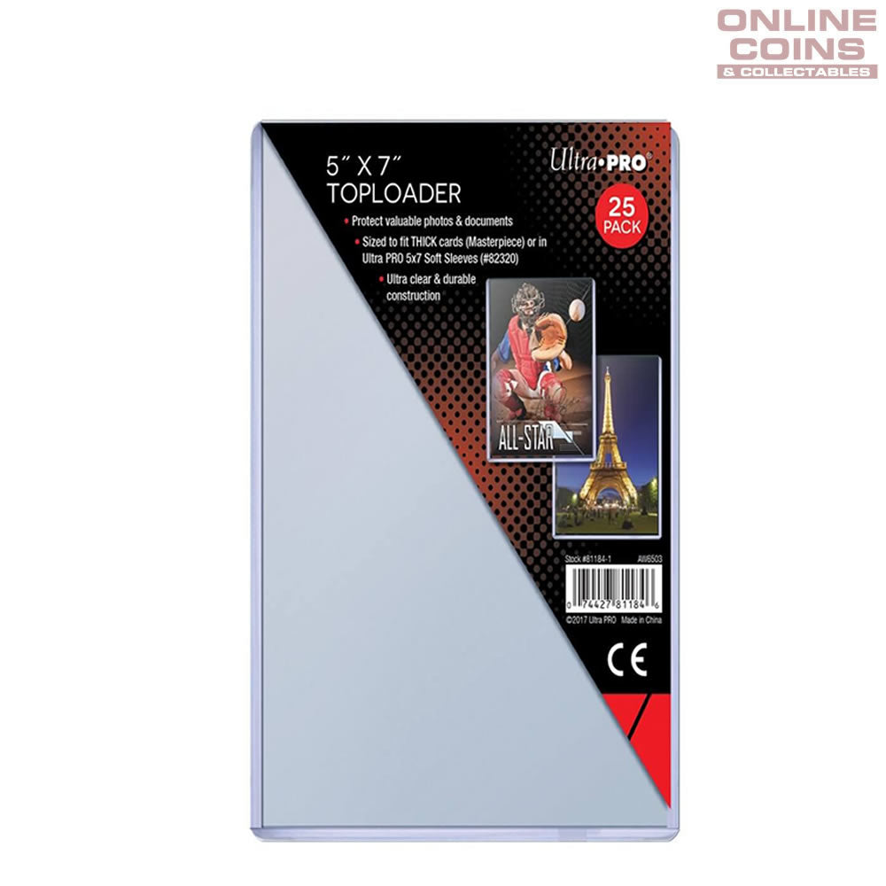 "Ultra Pro Speciality Series Toploader 5"" x 7"" 1mm Thick - 25 Per Pack"