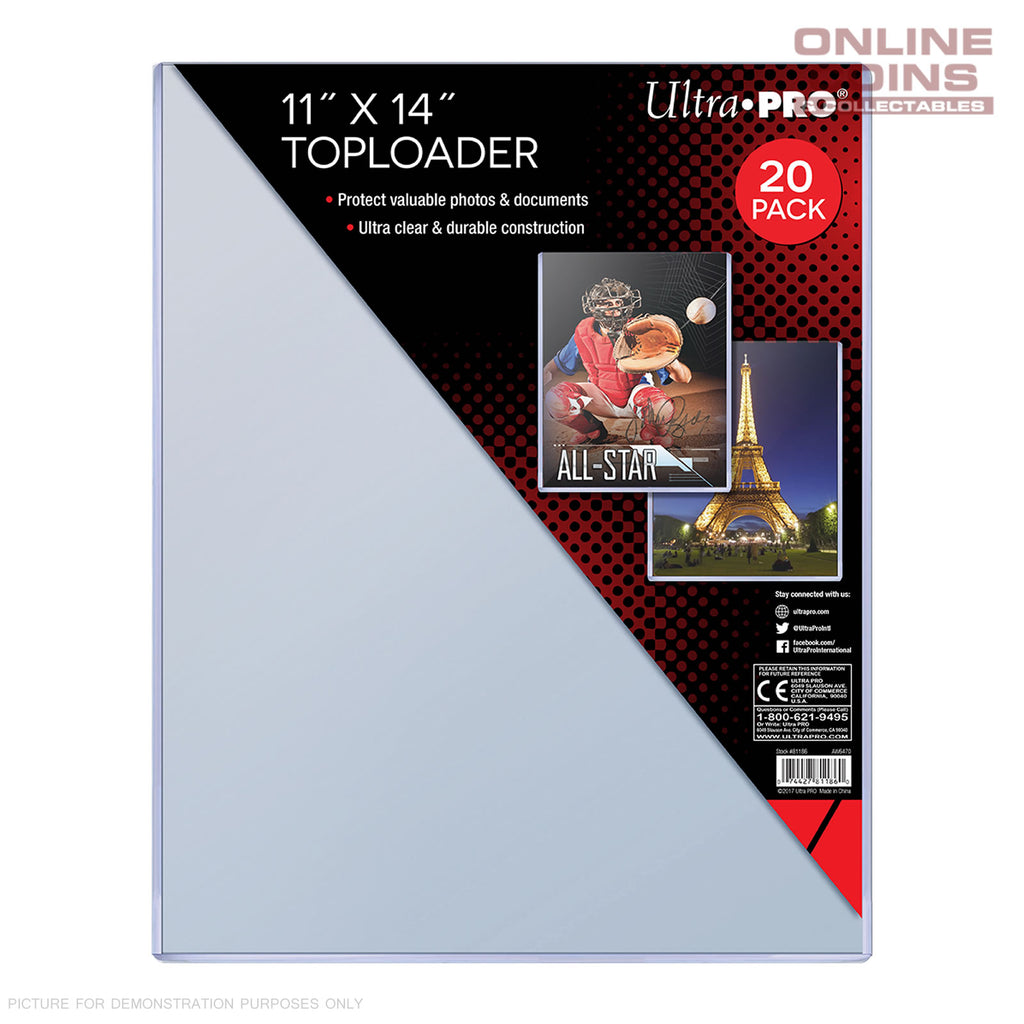 "Ultra Pro Specialty Series Toploader 11"" x 14"" Comic Magazine Documents Pkt 20"