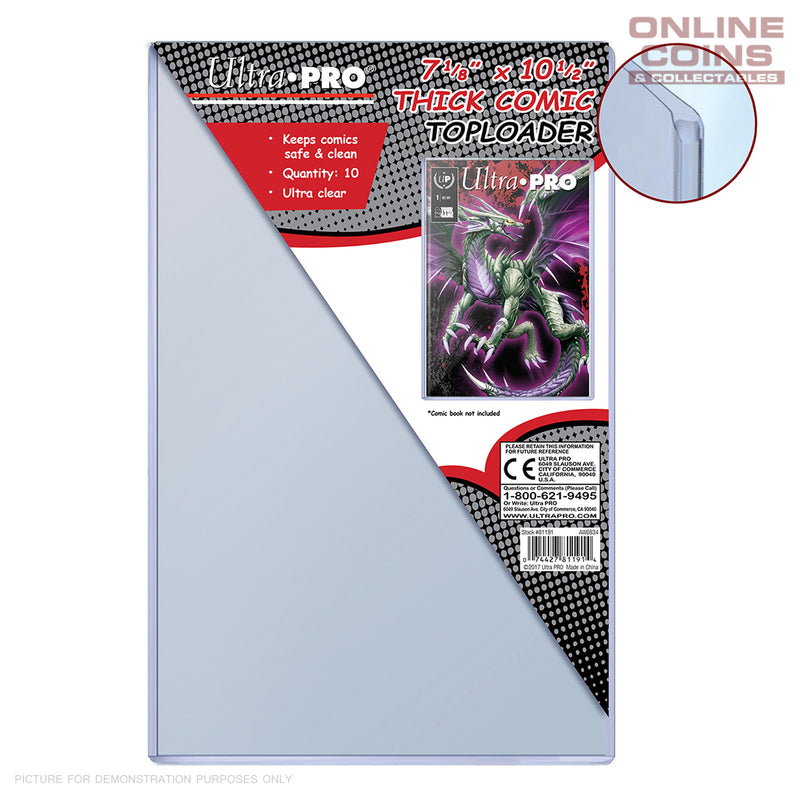 "Ultra-Pro Comic Series Toploader - 7-1/8"" X 10-1/2"" Thick Comic Toploader 10 Pack"