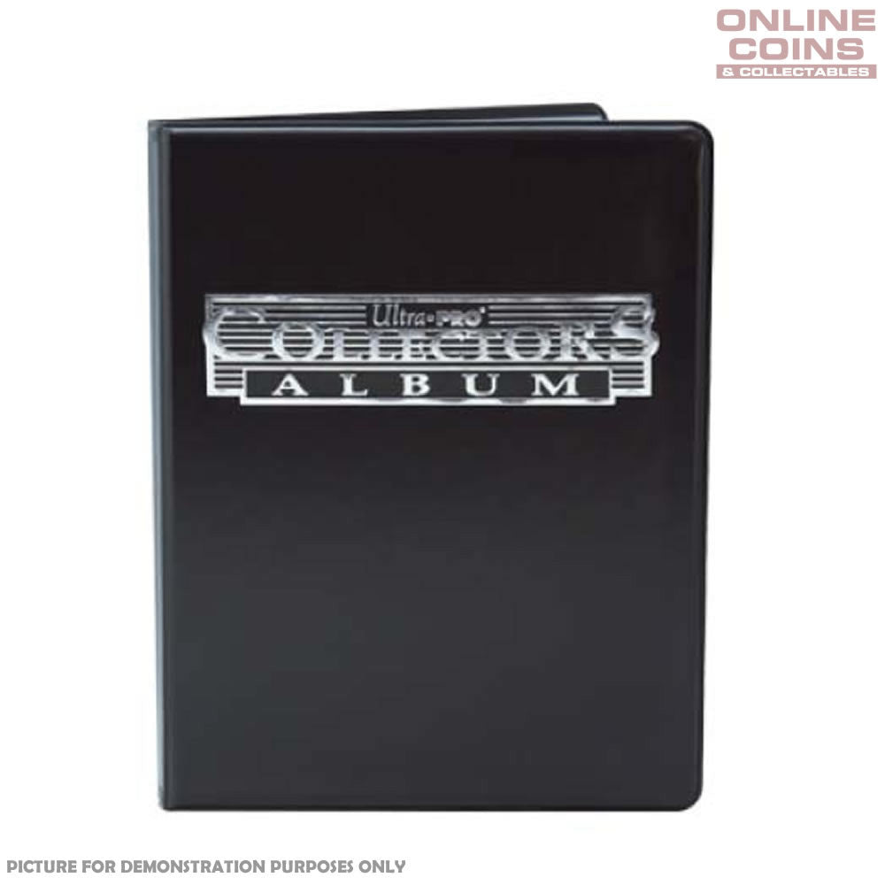 Ultra-Pro 4 Pocket Black Collectors Portfolio With 10 Pages Holds up to 80 Cards