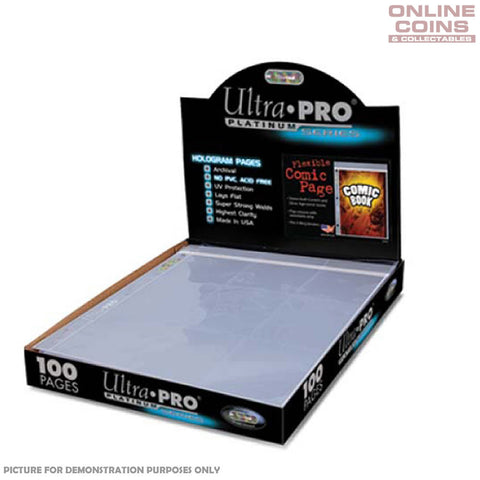 Ultra-Pro Comic Series 3-Hole Flexible Comic Page - Full Box of 100 Sheets