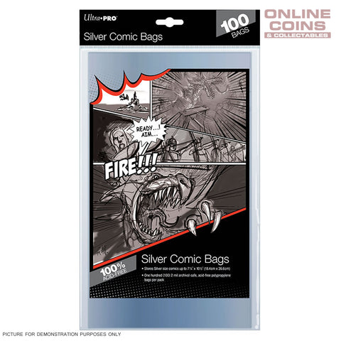 Ultra Pro Comic Series Acid Free Ultra Clear Current Size Comic Bags x Pack of 100