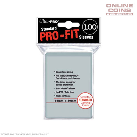 Ultra Pro Deck Protector PRO-FIT Sleeves - Standard 100ct Clear - UP#82712