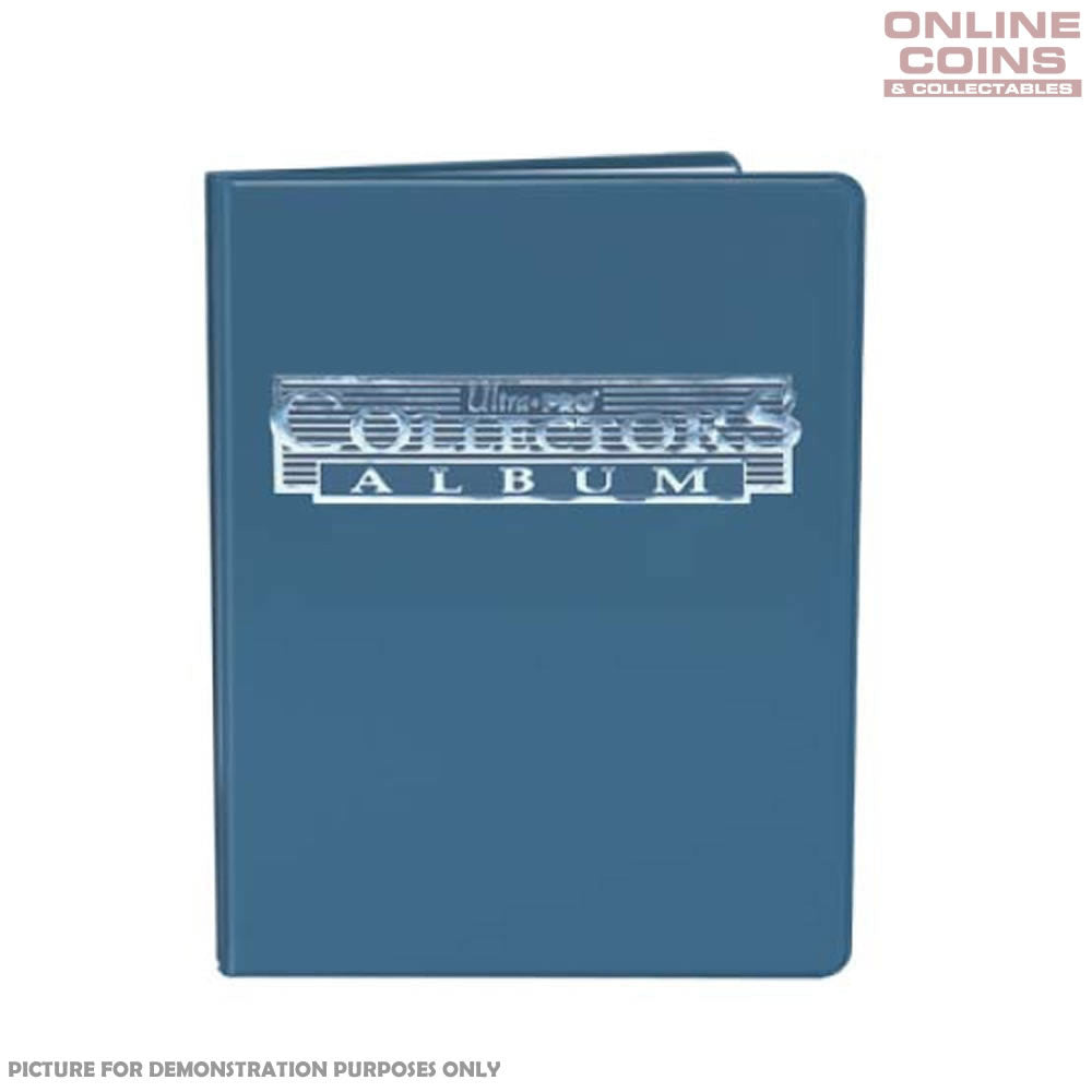 Ultra-Pro 4 Pocket Blue Collectors Portfolio With 10 Pages Holds up to 80 Cards