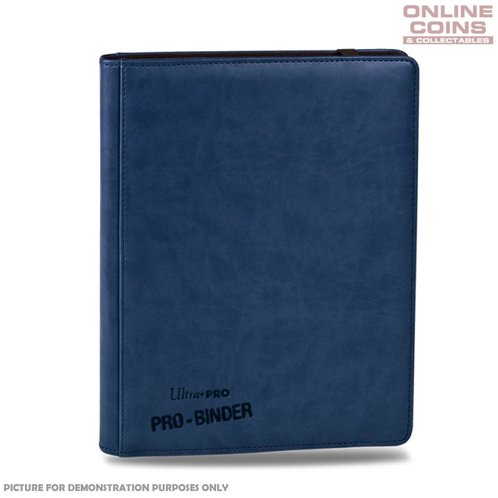 Ultra-Pro PREMIUM Pro-Binder Blue With 20 Trading Card Pages to Hold 360 Cards