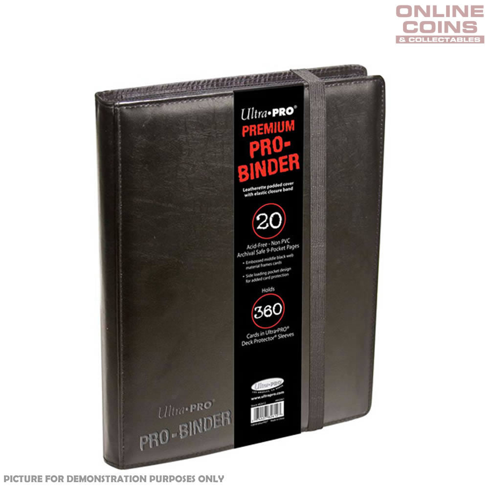 Ultra-Pro PREMIUM Pro-Binder - Includes 20 Trading Card Pages to Hold 360 Cards