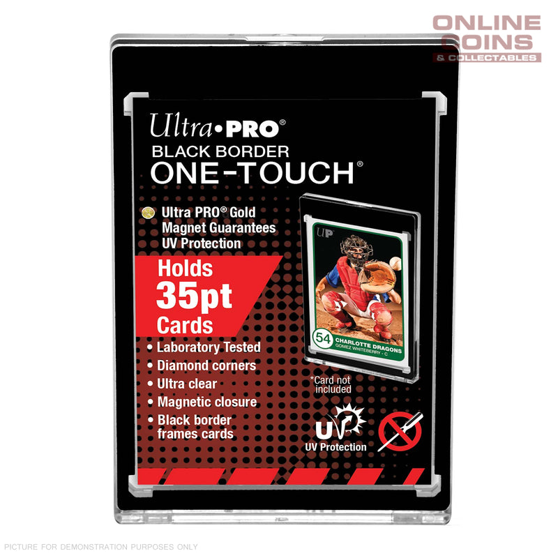 Ultra Pro 35pt BLACK BORDER Magnetic One Touch Card Protector .89mm