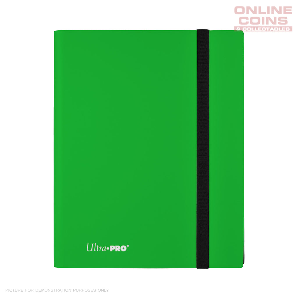 Ultra-Pro ECLIPSE Pro Binder LIME GREEN - Holds 360 Cards - With 40 x 9 Pocket Pages