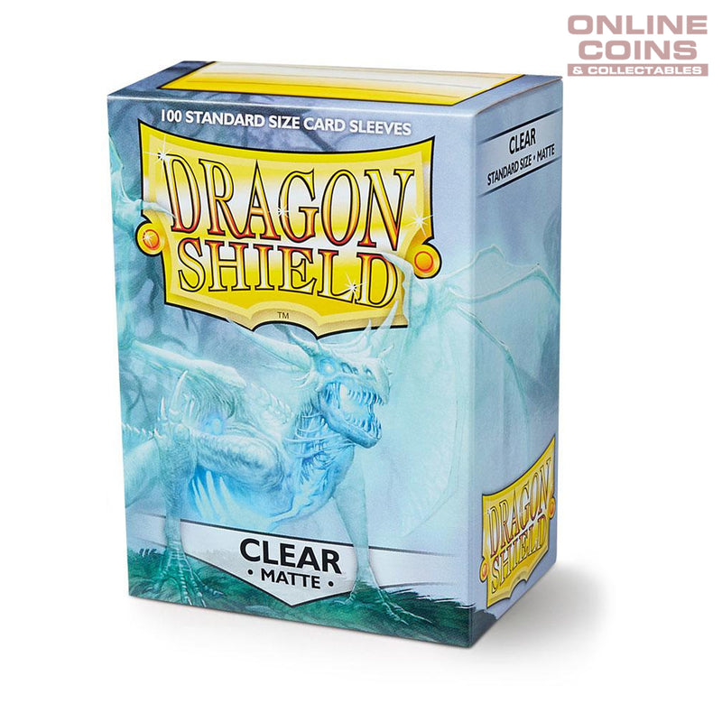 DRAGON SHIELD - MATTE Standard Card Sleeves CLEAR Pack of 100 #AT-11001